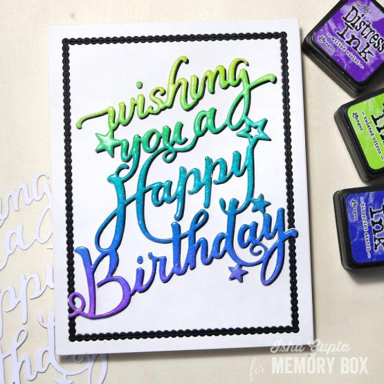 Karten Kunst Karte Von Memory Box Happy Birthday Card